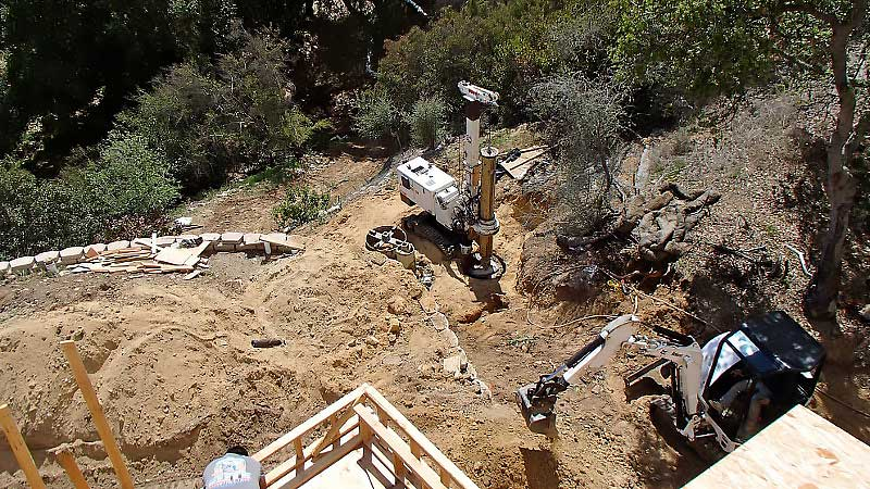 Hollywood Retaining Wall Contractor | Grade Beams | Foundations | californiadrillingcompany.com